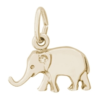 Rembrandt Elephant Charm, Gold Plated Silver