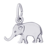 Rembrandt Elephant Charm, Sterling Silver