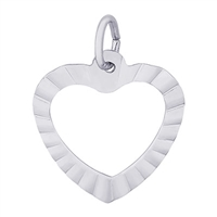 Rembrandt Heart Charm, Sterling Silver