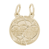 Rembrandt Mizpah Charm, Gold Plated Silver