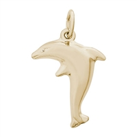 Rembrandt Dolphin Charm, Gold Plated Silver