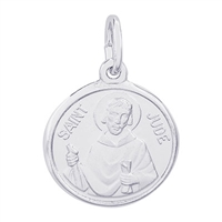 Rembrandt St. Jude Charm, Sterling Silver