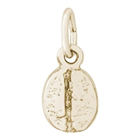 Rembrandt Coffee Bean Charm, Gold Plated Silver