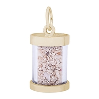Rembrandt St Thomas Sand Capsule Charm, Gold Plated Silver