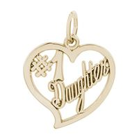 Rembrandt #1 Daughter Charm, Gold Plated Silver