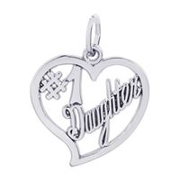 Rembrandt #1 Daughter Charm, Sterling Silver