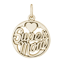 Rembrandt Supermom Charm, Gold Plated Silver