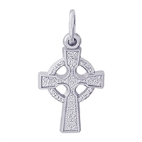 Rembrandt Celtic Cross Charm, Sterling Silver