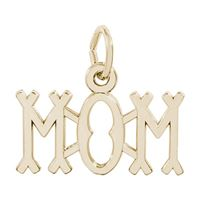Rembrandt Mom Charm, Gold Plated Silver