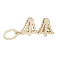 Rembrandt Small Golden Gate Bridge Charm, Gold Plated Silver