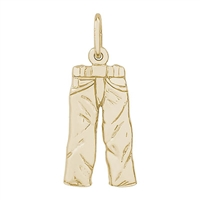 Rembrandt Jeans Charm, Gold Plated Silver