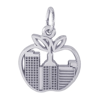 Rembrandt New York Skyline Charm, Sterling Silver