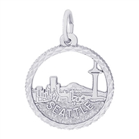 Rembrandt Seattle Skyline Charm, Sterling Silver