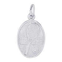 Rembrandt Tennis Charm, Sterling Silver