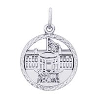 Rembrandt White House Charm, Sterling Silver
