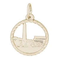 Rembrandt Washington Monument Charm, Gold Plated Silver