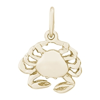 Rembrandt Crab Charm, Gold Plated Silver