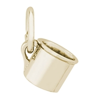 Rembrandt Baby Cup Charm, Gold Plated Silver