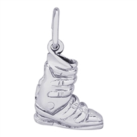 Rembrandt Ski Boot Charm, Sterling Silver