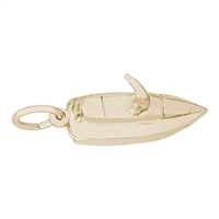 Rembrandt Jet Ski Charm, Gold Plated Silver