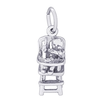 Rembrandt Highchair Charm, Sterling Silver