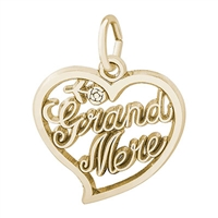 Rembrandt Grand-Mere Charm, Gold Plated Silver