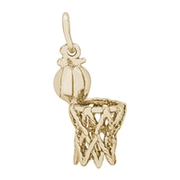 Rembrandt Hoop & Net Charm, 10K Yellow Gold