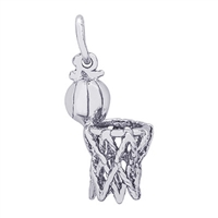 Rembrandt Hoop & Net Charm, Sterling Silver