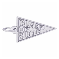 Rembrandt Class of 2018 Charm, 14K White Gold