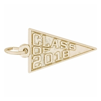 Rembrandt Class of 2018 Charm, Gold Plated Silver