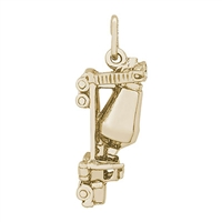 Rembrandt Cement Truck Charm, Gold Plated Silver