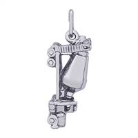 Rembrandt Cement Truck Charm, Sterling Silver