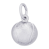 Rembrandt Tennis Ball Charm, Sterling Silver