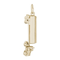 Rembrandt Oil Tanker Charm, Gold Plated Silver
