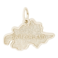 Rembrandt Switzerland Charm, Gold Plated Silver