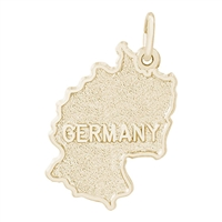 Rembrandt Germany Charm, Gold Plated Silver