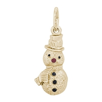 Rembrandt Snowman Charm, Gold Plated Silver