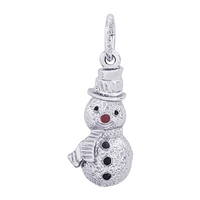 Rembrandt Snowman Charm, Sterling Silver