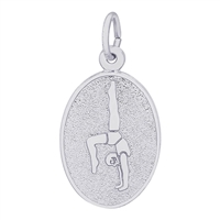 Rembrandt Gymnast Charm, Sterling Silver