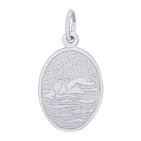 Rembrandt Swimmer Charm, Sterling Silver