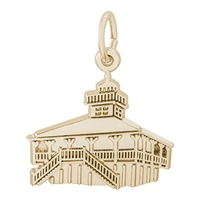 Rembrandt Bocagrand Florida Lighthouse Charm, Gold Plated Silver