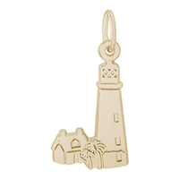 Rembrandt Cape Florida Lighthouse Charm, Gold Plated Silver
