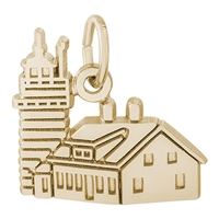 Rembrandt Quoddy Head Lighthouse Charm, Gold Plated Silver