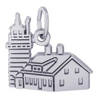Rembrandt Quoddy Head Lighthouse Charm, Sterling Silver