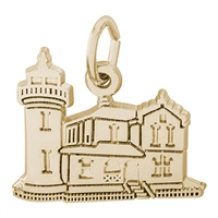Rembrandt Admiralty Head Washington Lighthouse Charm, Gold Plated Silver