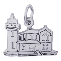 Rembrandt Admiralty Head Washington Lighthouse Charm, 14K White Gold
