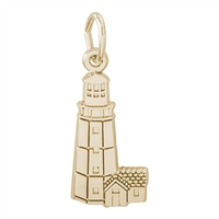 Rembrandt Montauk New York Lighthouse Charm, Gold Plated Silver