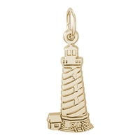 Rembrandt Cape Hatteras North Carolina Lighthouse Charm, Gold Plated Silver