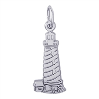 Rembrandt Cape Hatteras North Carolina Lighthouse Charm, Sterling Silver