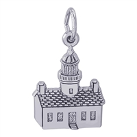 Rembrandt Point Loma California Lighthouse Charm, Sterling Silver